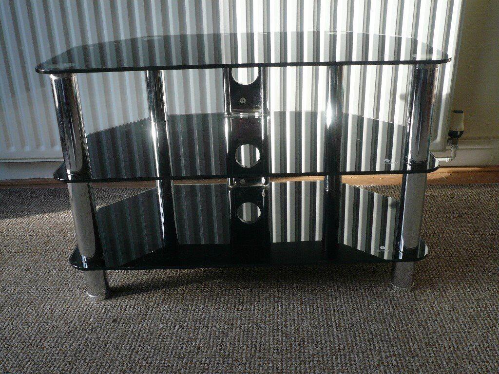 TV Table Dark Glass