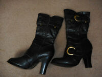 Black Boots , size 6