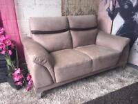 New Wrigley 2 Seater Sofa And Matching Armchair in Suede Fabric In Mocha