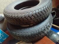 Two tyres, like new, India GT 165x13 82s radials