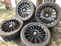 17 Inch ALLOY WHEELS WITH TYRES multifitment