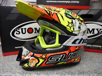 New 2018 Suomy Mr Jump Jackpot Yellow Helmet Thor Goggles Motocross S M L XL