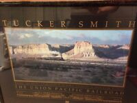 Framed Tucker Smith Union Pacific Railroad Collectors Poster