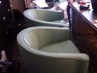 Tub Chairs - Light Green Office