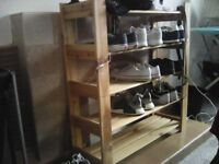 SHELVED NATURAL SHOE RACK EXCELLENT CONDITION