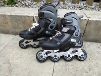 Oxelo inline skates / rollerblades, adjustable, excellent condition