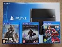 Black PS4 500gb with 3 Games