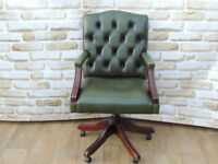 Green Captains chair High back (Delivery poss)