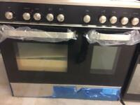 Stainless still 90cm bran new gas cooker grill & oven good condition with brown