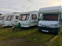 Wanted touring caravans moterhomes campers