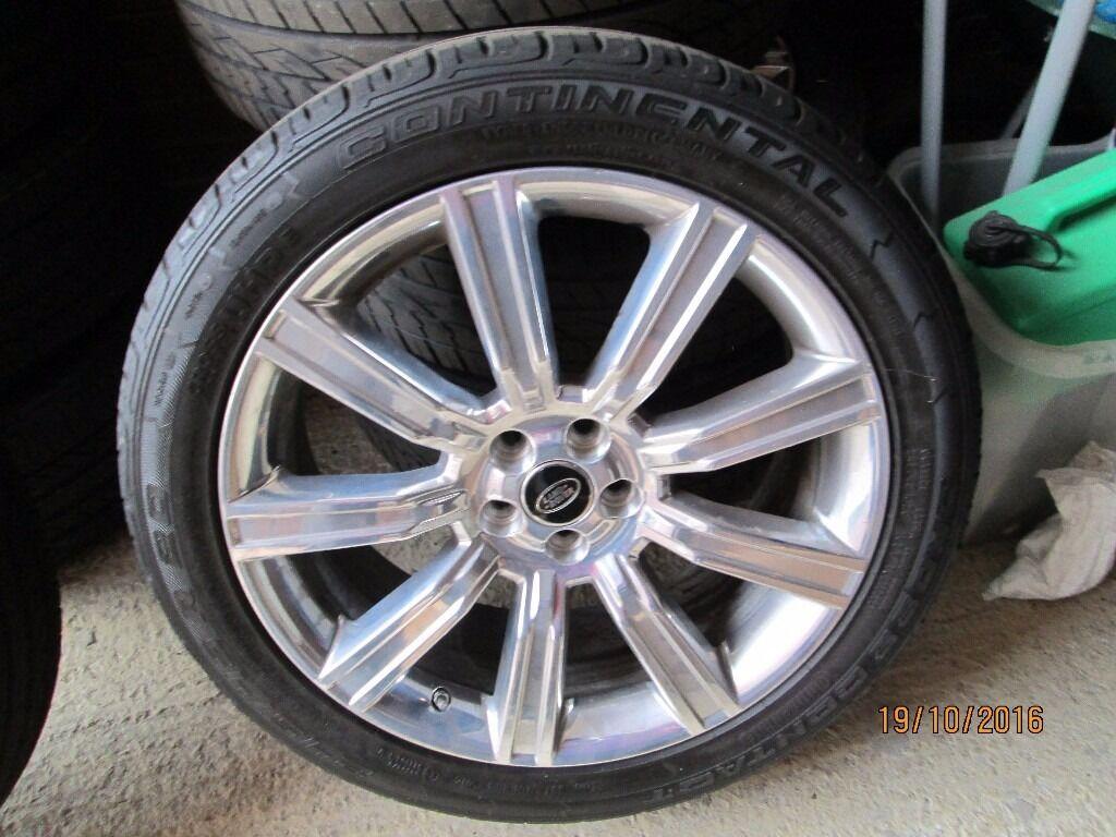 "Genuine Land rover 20"" Alloys &Tyres x4"