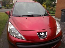 2008 peugeot 207 3 door hatchback