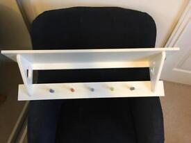 Nursery Shelf with hooks