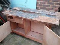 Work bench ex school carpentry or artistry