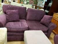 Plum sofa and armchair