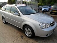chevrolet lacetti 1.6 estate silver 2009 only 10700 miles