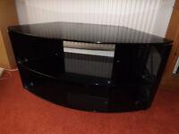 Techlink Bench Gloss Black Corner TV Stand
