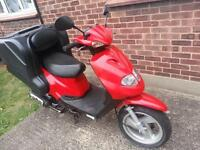 TGB DELIVERY 125cc GOLDEN BEE 2011 YEAR ONLY 12500 MILES ONE 1 YEAR MOT.