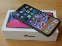 IPhone x black unlocked with insurance