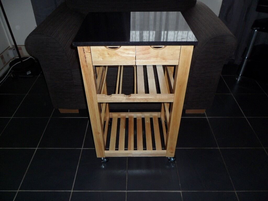 Granite Top Kitchen Trolley Hygena Granite Top Kitchen Trolley In Liverpool Merseyside