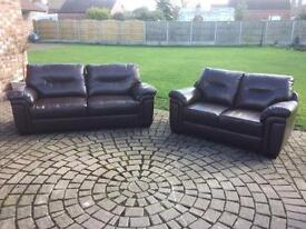 Three and two seater Sofas.