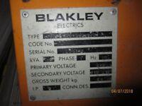 Selection of 110 V site equipment, 110v Site Transformer, 110v cable, 110v lights, plugs.