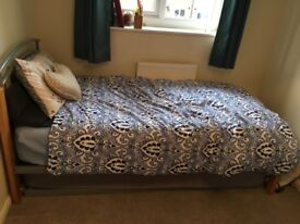 Single/double Bed and Mattresses (memory foam top)