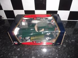 "Model Jaguar ""E"" Coupe 1961 British Racing Green,boxed, brand new."