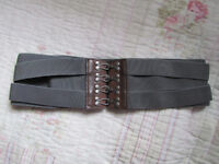 New belt with metal hooks. Size S, £10