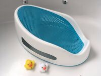 Baby bath support - Angelcare Soft Touch Bath Support - Aqua - Good as new