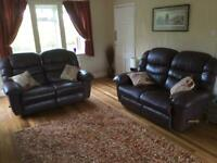 La-Z-Boy Gibson 2 x 2 seater sofas and 1 Armchair in brown leather
