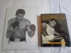 Muhammed Ali book, 2 posters and 1 photo print