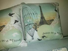 Shabby chic french cushions