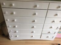Large white chest of drawers in melamine finish