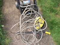 petrol jet washer sold as spsres or repairs tools and hose included.