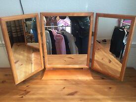 *Solid Wood Heavy Vanity Mirror* Great Condition*