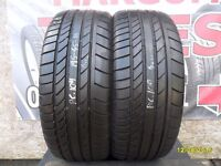 AC109. 2X 195/45/16 80V 1X6MM 1X5MM CONTINENTAL SPORT CONTACT - USED TYRES