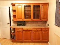 Kitchen Cabinets and Work surface.