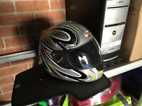New Motorbike helmet with holder