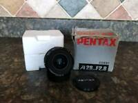 Pentax-A 28mm F/2.8 Wide Angle Prime Camera DSLR Lens Manual Focus