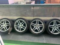 """Mercedes 18"""" Alloy wheels E Class C Class 5x112"""