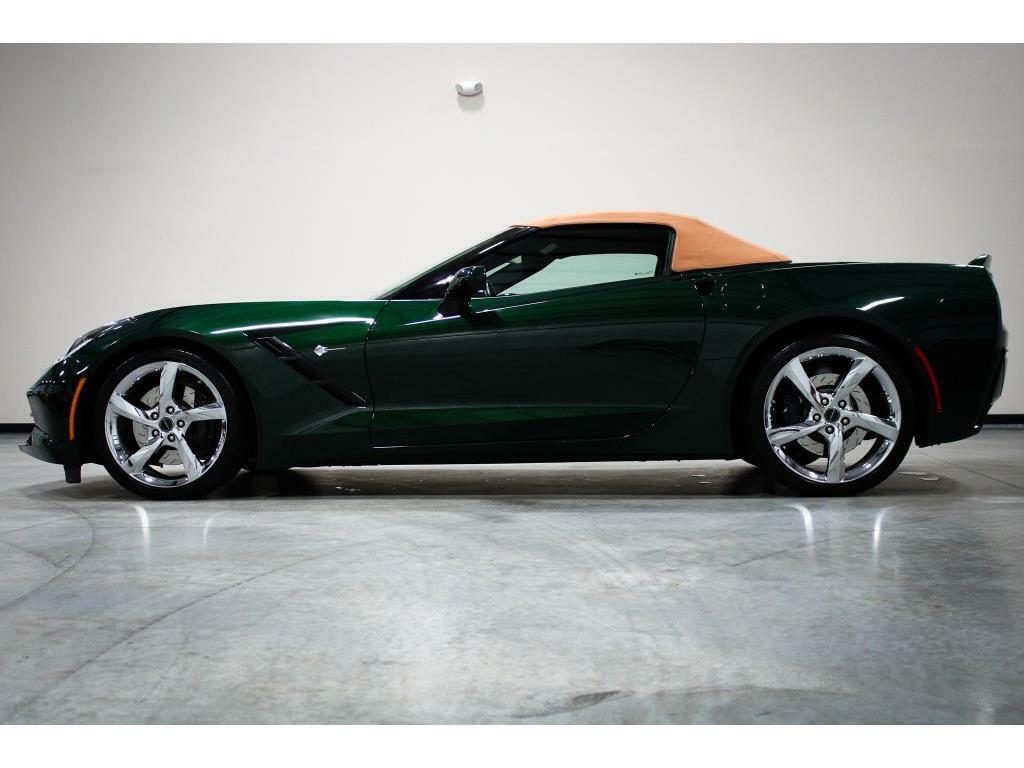 2014 Green Chevrolet Corvette Convertible 3LT | C7 Corvette Photo 2