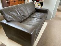 Gorgeous large 3 seater full leather sofa