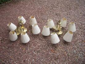 2 Brass Chandeliers