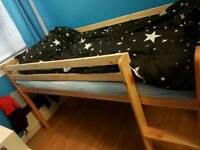 Midi bed with slide