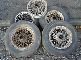MG wire wheels. 6 off