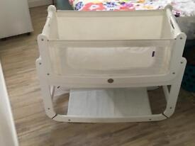 Snüzpod 3in1 bedside crib with mattress