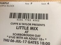 1 x little mix ticket 06.07.2017 Scarborough open air