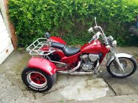 Honda VT600C Shadow Trike, Red and Silver, New MOT