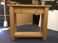 Console table - solid oak